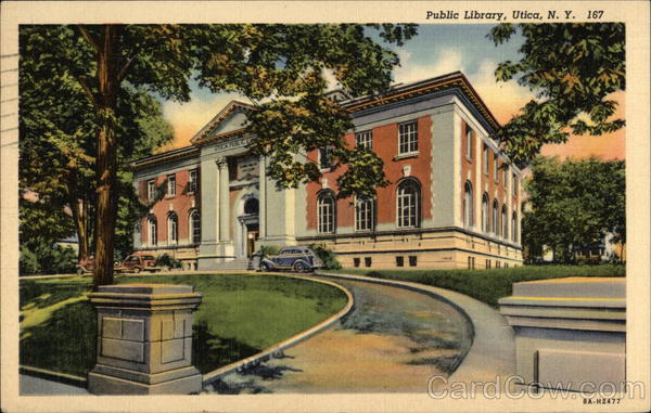 Public Library Building Utica New York