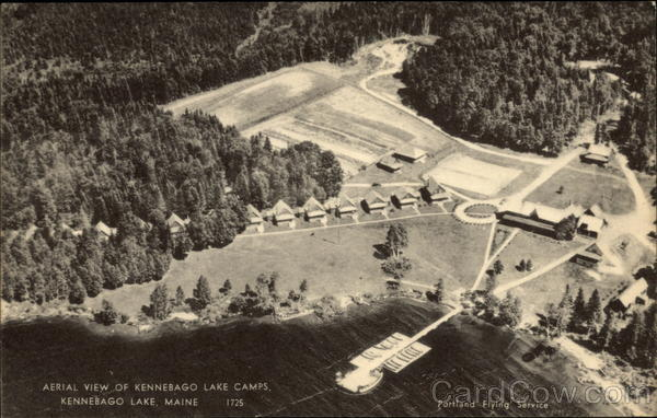 Aerial View of Kennebago Lake Camps Maine