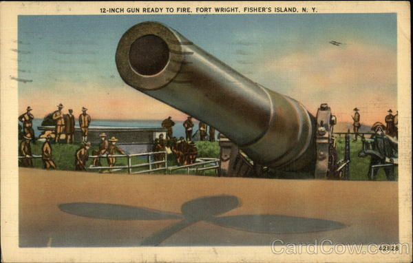 12-inch Gun Ready to Fire, Fort Wright Fishers Island New York
