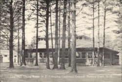 Cass Hall, Dining Room, N.E. Fellowship Conference Grounds Postcard