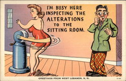 "Greetings - ""I'm Busy Here Inspecting the Alterations to the Sitting Room"""