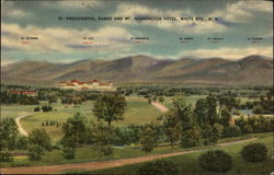 View of Presidential Range and Mt. Washington Hotel