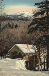 Mt. Liberty and Covered Bridge at the Flume