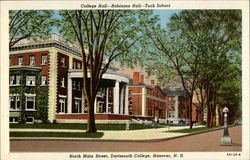 College Hall - Robinson Hall - Tuck School on North Main Street at Dartmouth College