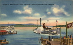 Steamer Mt Washington - Lake Winnepesaukee Postcard