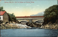 Old Toll Bridge and Railroad Bridge