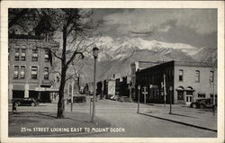 25th Street Looking East to Mount Ogden
