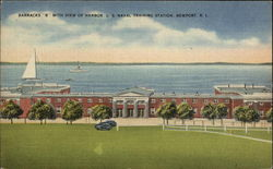 Barracks B with View of Harbor, U.S. Naval Training Station