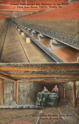 Longest Underground Belt Conveyor in the World & Coal Cutting Machine at Frick Mines
