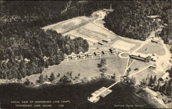 Aerial View of Kennebago Lake Camps