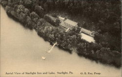 Aerial View of Starlight Inn and Lake