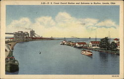 U.S. Coast Guard Station and Entrance to Harbor