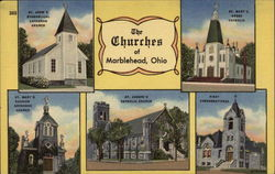 The Churches of Marblehead Postcard