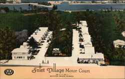 Inlet Village Motor Court Postcard