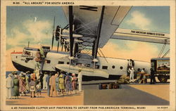 40 Passenger Clipper Ship Preparing to Depart from Pan-American Terminal