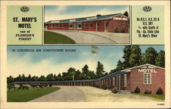 St. Mary's Motel Postcard