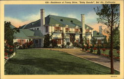 "Residence of Fanny Brice, ""Baby Snooks"""