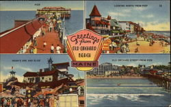 Greetings - Pier, Looking North from Pier, Noah's Ark Slide, Old Orchard Street