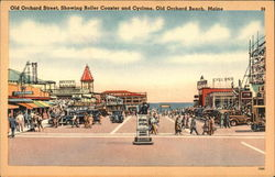 Old Orchard Street, Showing Roller Coaster & Cyclone