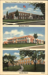 3 New Public Schools: McKinley School - Washington School - Lincoln School