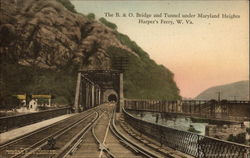 B & O Bridge & Tunnel under Maryland Heights at Harper's Ferry