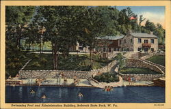 Swimming Pool and Administration Building at Babcock State Park