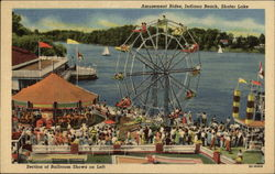 Amusement Rides, Indiana Beach, Shafer Lake, Section of Ballroom Shows on Left