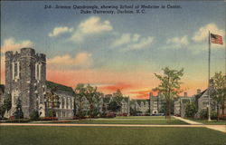 Science Quadrangle, showing School of Medicine in Center, Duke University Postcard