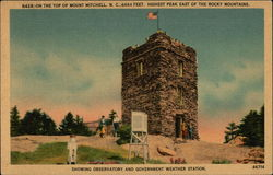 On the Top of Mount Mitchell, Showing Observatory and Government Weather Station