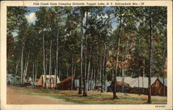 Fish Creek State Camping Grounds in the Adirondack Mountains