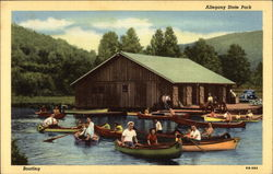 Boating on the Lake at Allegany State Park
