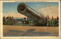 12-inch Gun Ready to Fire, Fort Wright