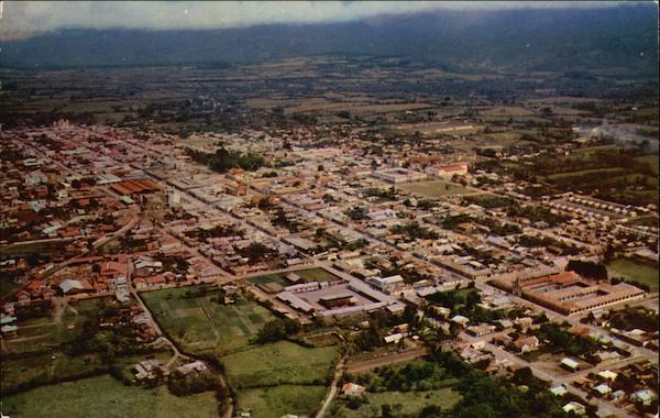 Aerial View of Town Cartago Costa Rica Central America