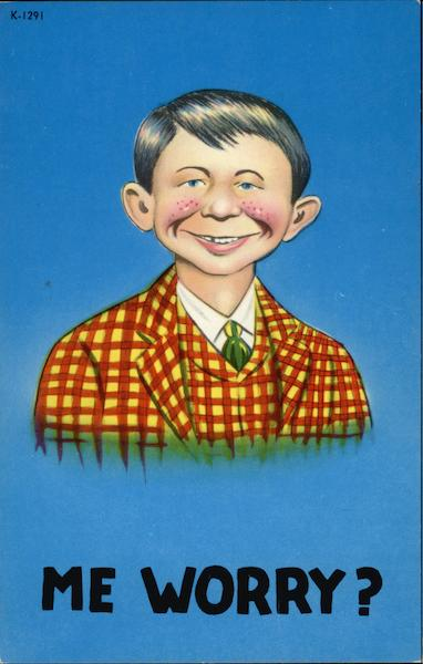 Alfred E. Neuman - Me Worry? Comic, Funny