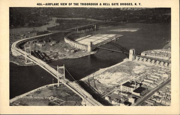 Aerial View of The Triborough & Hell Gate Bridges New York