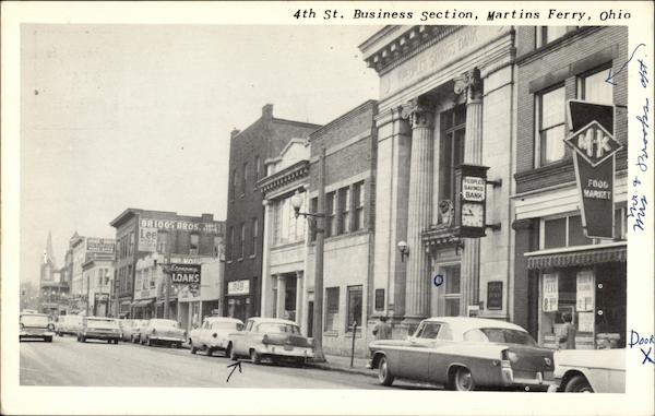 4th Street Business Section View Martins Ferry Ohio