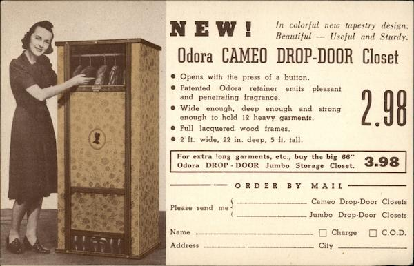 New! Odora Cameo Drop-Door Closet from Pelletier's Topeka Kansas