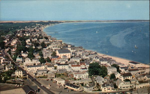 Provincetown from Top of Pilgrim Monument Massachusetts