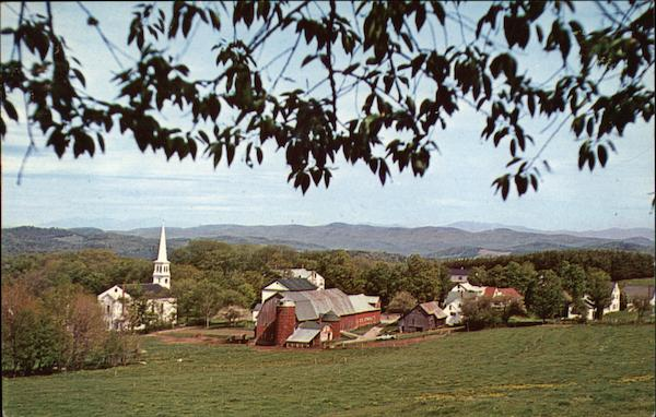 View of Town and Church Peacham Vermont