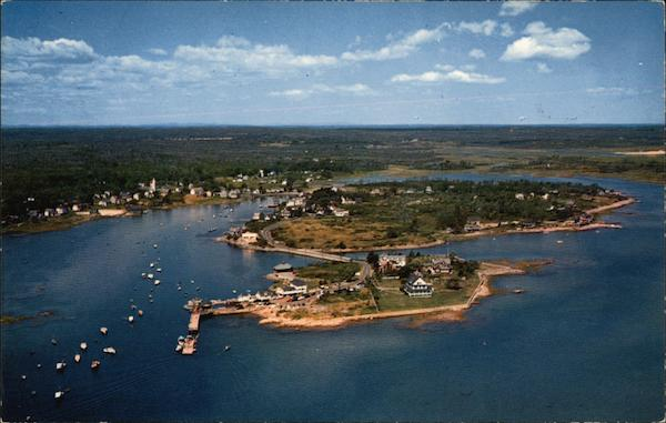 Airview of the Cape Cape Porpoise Maine