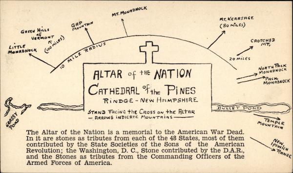 Altar of the Nation, Cathedral of the Pines Rindge New Hampshire
