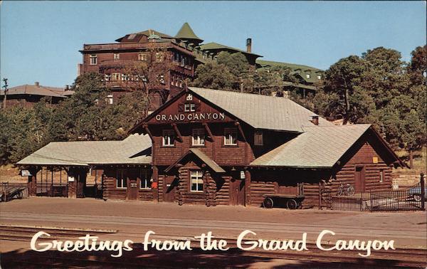 Railroad station and el tovar hotel grand canyon national for El tovar grand canyon