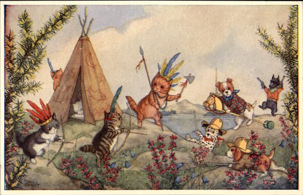Cowboys and Indians by Molly Brett Dressed Animals