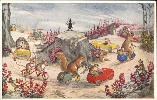 Here We Go Round The Roundabout by Molly Brett Dressed Animals