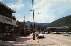 Street Scene Featuring Vintage Vehicles in Gatlinburg