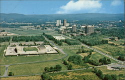 Aerial View of the University of Massachussetts Postcard