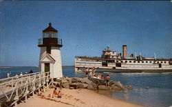 Steamer passing Brant Point Light
