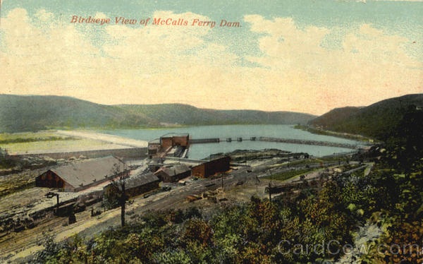 Birdseye View Of McCalls Ferry Dam Lancaster Pennsylvania