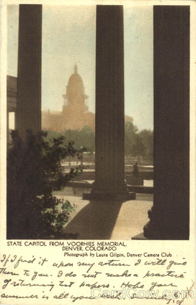State Capitol From Voorhies Memorial Denver Colorado