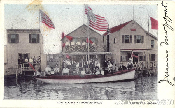 Boat Houses At Ramblersville New York